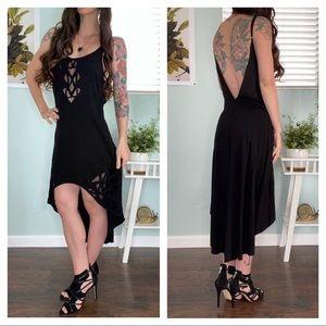Cleobella Nora Cutwork Dress in Black sz Small